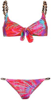 Reina Olga Luca mixed print bikini
