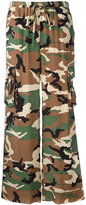 P.A.R.O.S.H. camouflage print trousers - women - Silk - M