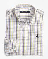 Brooks Brothers Non-Iron Windowpane Tattersall Sport Shirt