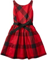 Polo Ralph Lauren Poly Taffeta Plaid Fit and Flare Dress (Big Kids)