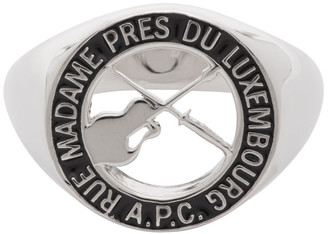 A.P.C. Silver Benoit Signet Ring