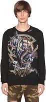 Balmain Panther Print Cotton Jersey Sweatshirt