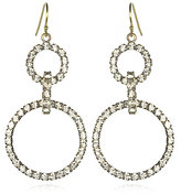 Cocotay Double Rhinestone Hoop Earrings