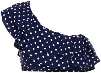 Tory Burch One-shoulder Ruffled Polka-dot Bikini