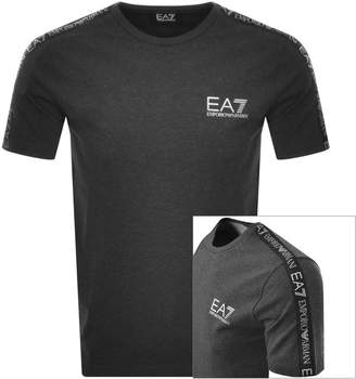 Emporio Armani Ea7 EA7 Taped Logo T Shirt Grey