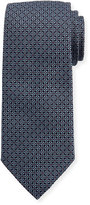 Eton Woven Dotted Fancy Box Silk Tie, Blue