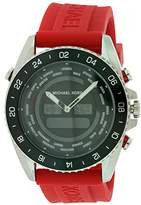 Michael Kors MK8402 45mm Stainless Steel Case Red Silicone Mineral Men's Watch