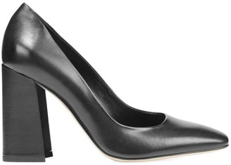 Via Spiga Beatrice Square-Toe Metallic Leather Pumps