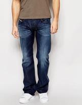 Diesel Jeans Zatiny 806u Bootcut Fit Dark Vintage Wash