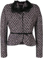 Giambattista Valli belted tweed jacket