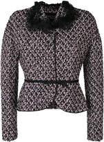 Giambattista Valli belted tweed jacket