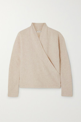 Vince Wrap-effect Cashmere Sweater - Stone
