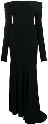 Alexandre Vauthier Bardot Long Sleeve Evening Dress