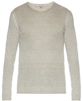 John Varvatos Crew-neck Silk And Cashmere-blend Sweater