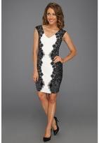 Max & Cleo Eve Shirred Dress (Black Combo) - Apparel