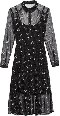 Jack Wills Florence Flocked Midi Dress