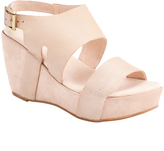 Antelope Makeup Double-Strap Leather Wedge Sandal