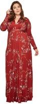 Rachel Pally Plus Size Long Sleeve Full-Length Caftan WL Print Women's Clothing