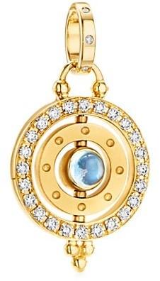 Temple St. Clair Celestial 18K Yellow Gold Diamond Orbit Pendant