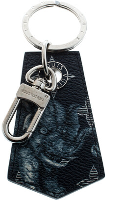 Louis Vuitton Chapman Brothers Blue Printed Canvas Silver Tone Key Holder / Keychain