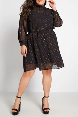 ModCloth Established Aplomb Long Sleeve Dress