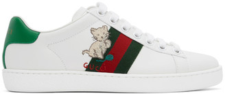 Gucci White Kitten Ace Sneakers