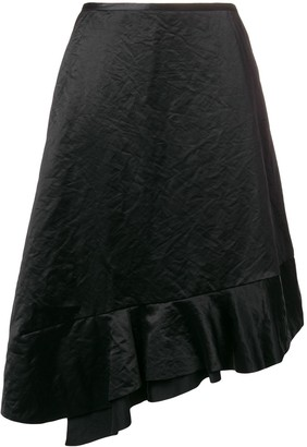 Comme des Garcons Pre-Owned 1990's asymmetric ruffled skirt