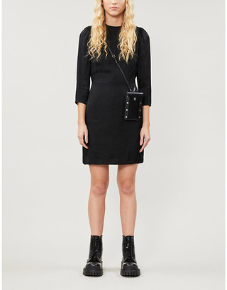 The Kooples Jacquard-print woven mini dress