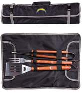 Picnic Time NFL Los Angeles Chargers 3pc BBQ Tote and Tools Set - Black