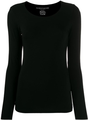 Majestic Filatures Fitted Long Sleeve Top