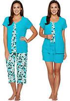 Carole Hochman Daisy Floral Baby Terry 4-Piece Pajama Set