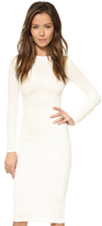 uncategorized  Who made Nicola Peltzs white long sleeve dress and nude pumps?