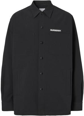 Burberry Embroidered Globe Logo Shirt