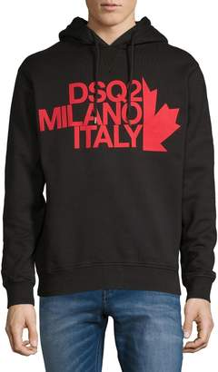 DSQUARED2 Graphic Logo Cotton Hoodie
