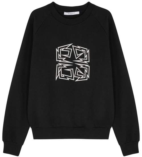 Givenchy Black 4G-print Cotton Sweatshirt