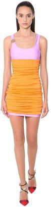 Fausto Puglisi Multicolor Stretch Lycra Mini Dress