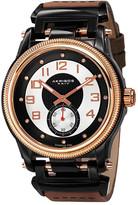Akribos XXIV Men's Genuine Diamond Quartz Strap Watch