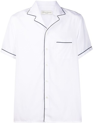 Officine Generale Piped Trim Short-Sleeved Shirt