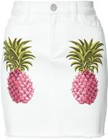 Giamba pineapple denim skirt