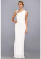 ABS by Allen Schwartz Gathered Bodice Sleeveless Gown (Off White) - Apparel