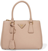Prada Galleria Small Textured-leather Tote - Beige