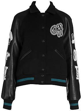 Off-White Women's Vintage College Varsity Jacket