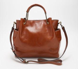 Patricia Nash Gianette Metal Handle Leather Tote