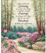Dimensions Gold Counted Cross Stitch Kit - Serenity, Courage and Wisdom