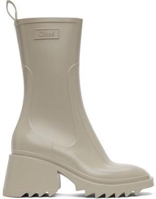 Chloé Beige Betty Rain Boots