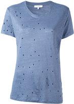 IRO cut-out detail T-shirt - women - Linen/Flax - XS