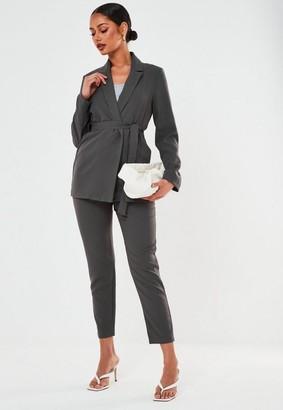 Missguided Co Ord Tie Waist Blazer
