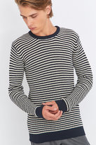 Suit Condor Navy And White Stripe Waffle Knit Jumper