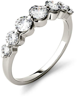 Charles & Colvard Moissanite Graduated Seven Stone Band 7/8 ct. t.w. Diamond Equivalent in 14k White, Yellow, or Rose Gold