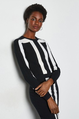 Karen Millen Sporty Graphic Knit Jumper
